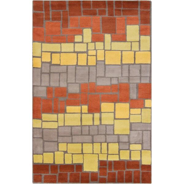 Filament Geometric Blocks Wool Rug - multi - 5' x 7'6