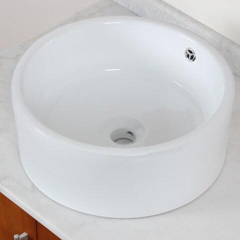 Elite Model 9834 High Temperature Grade A Ceramic Bathroom Sink