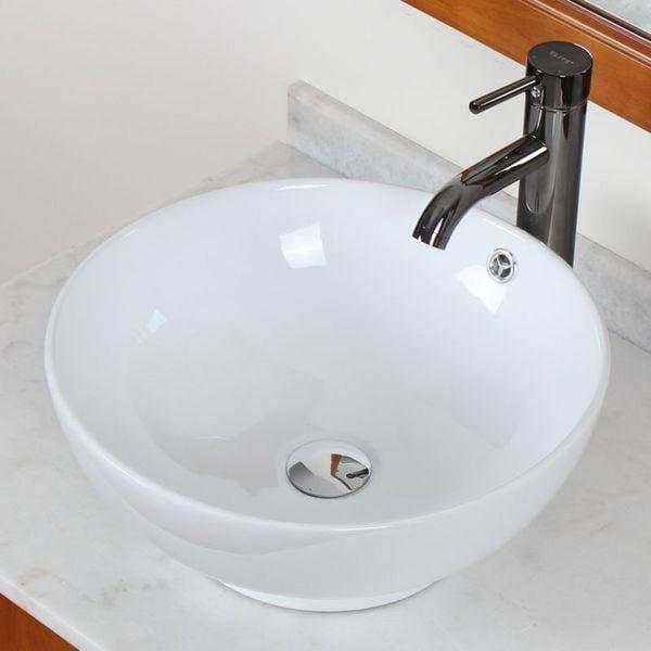 Elite Model 9851 High Temperature Grade A Ceramic Bathroom Sink