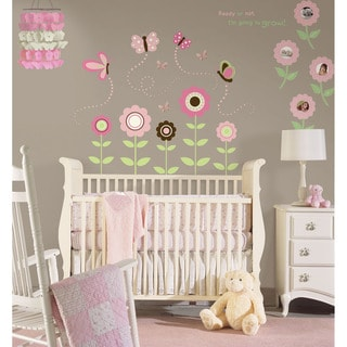 WallPops Butterfly Flower Vinyl Wall Art and Chandelier Bundle