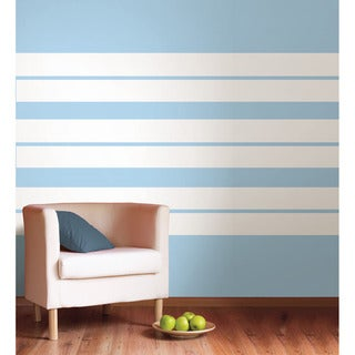 WallPops Ghost White Stripe Decals Vinyl Wall Art (Set of 4)