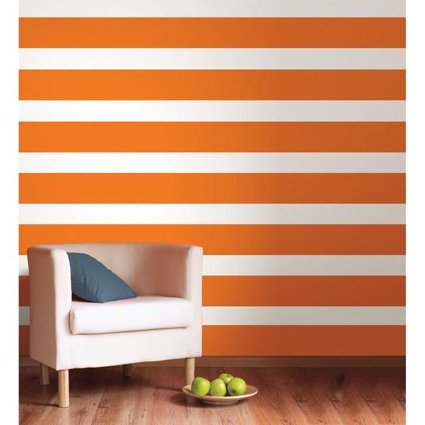 WallPops Totally Orange Stripe Decal Bundle Vinyl Wall Art