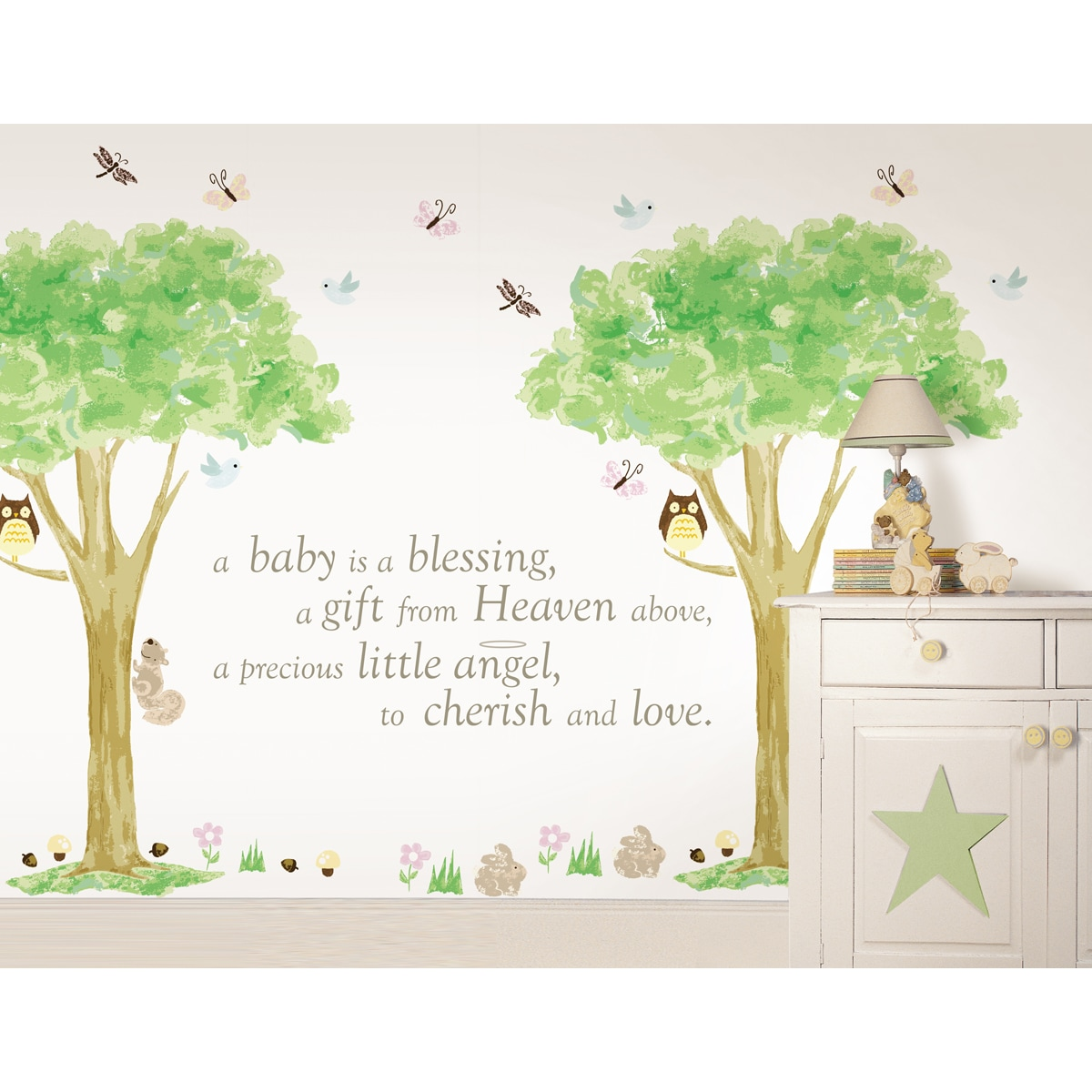 Wallpops Baby is a Blessing and Treehouse Kit Bundle Viny...