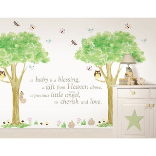 WallPops Baby is a Blessing and Treehouse Kit Bundle Vinyl Wall Art