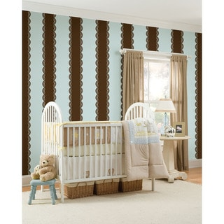 WallPops Espresso Stripe 4-piece Vinyl Wall Art Bundle