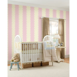 WallPops GiGi Pink Stripe Bundle Vinyl Wall Art