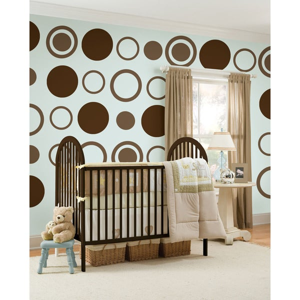 WallPops Espresso Dot/ Concentric Dot Bundle Vinyl Wall Art