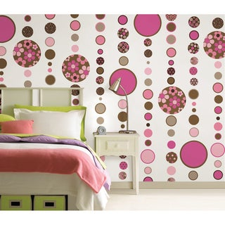 WallPops Gone Dotty Brown/ Pink Pack
