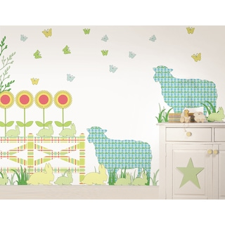 WallPops Betty the Lamb Scene Pack Vinyl Wall Art