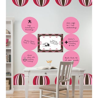 WallPops Paisley Red Dot Decals and Message Board