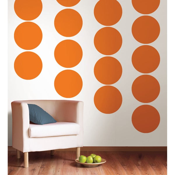 WallPops Totally Orange Dot Decal Pack
