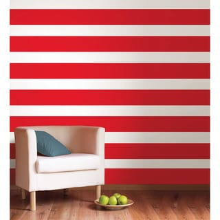 WallPops Red Hot Stripe Decals (Pack of 4)