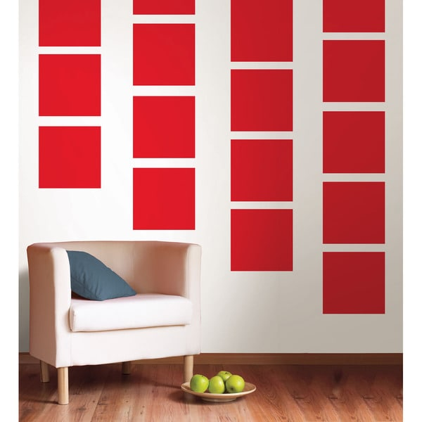 WallPops Red Hot Blox Decal Pack