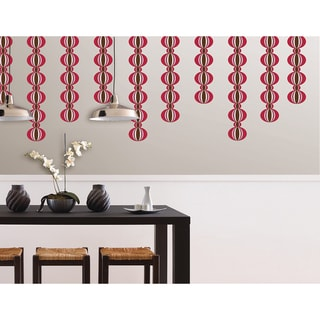 WallPops Loopy Red Stripe Decal Pack