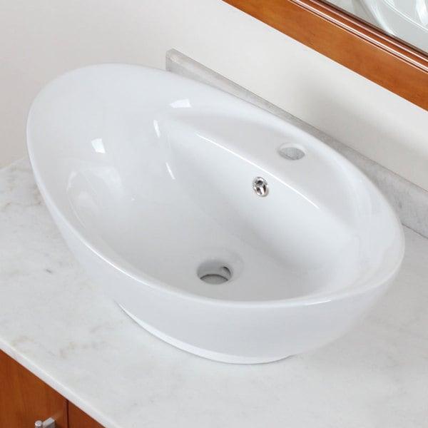Elite 9970 High Temperature Grade A Ceramic Bathroom Sink