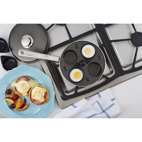 Farberware Accessories Aluminum Nonstick Grey Covered Egg Poacher