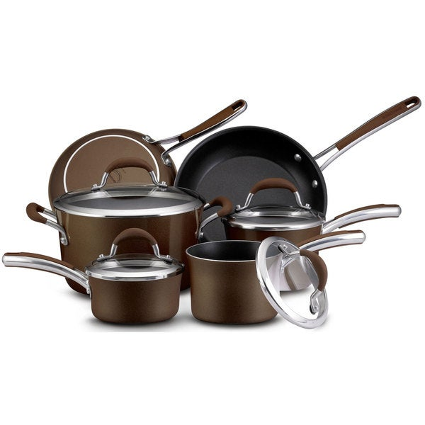 Farberware Affiniti 12-piece Bronze Cookware Set
