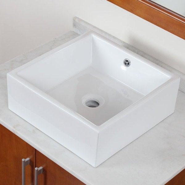 Elite High-Temperature Grade A Ceramic Bathroom Sink With Unique Square Design