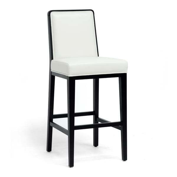 Theia Black Wood And Cream Leather Modern Bar Stool Free