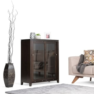 WYNDENHALL Essex Coffee Brown Medium Storage Media Cabinet & Buffet