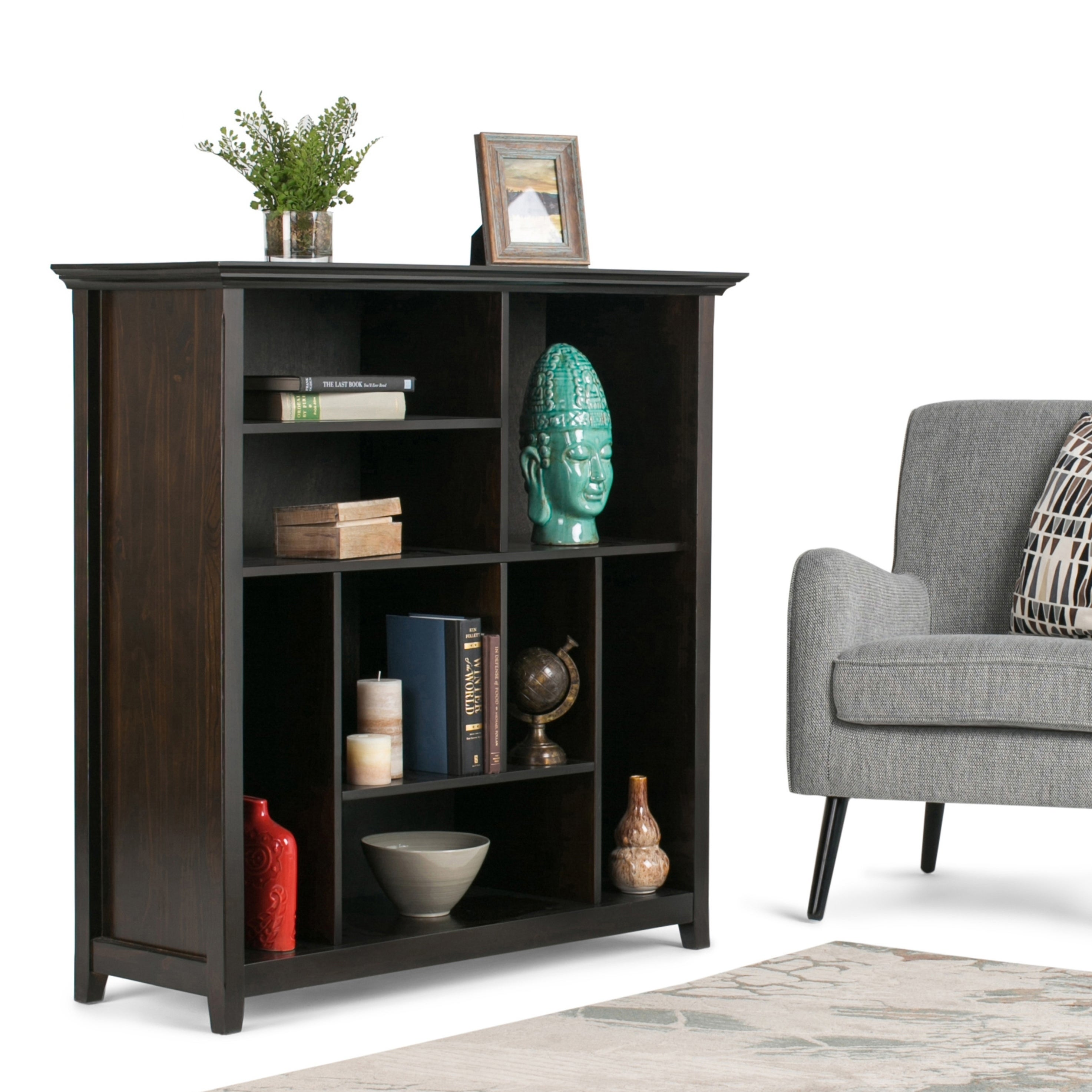 Simply Home Wyndenhall Halifax Multi Cube Bookcase and St...