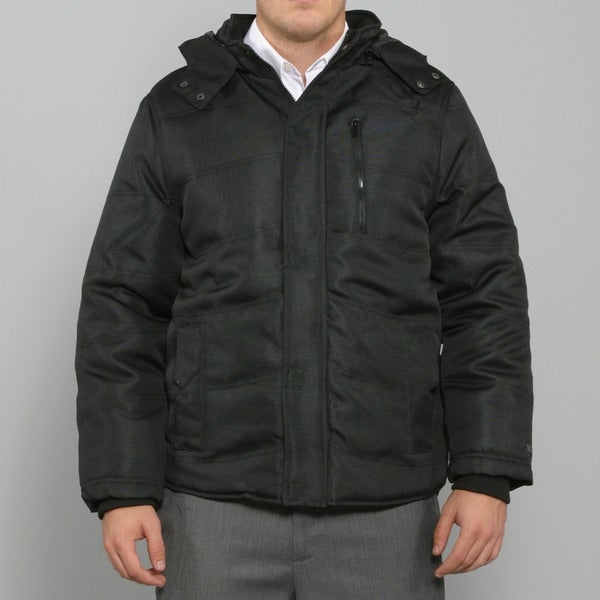 Sportier Men's Black Quilted Ballistic Coat