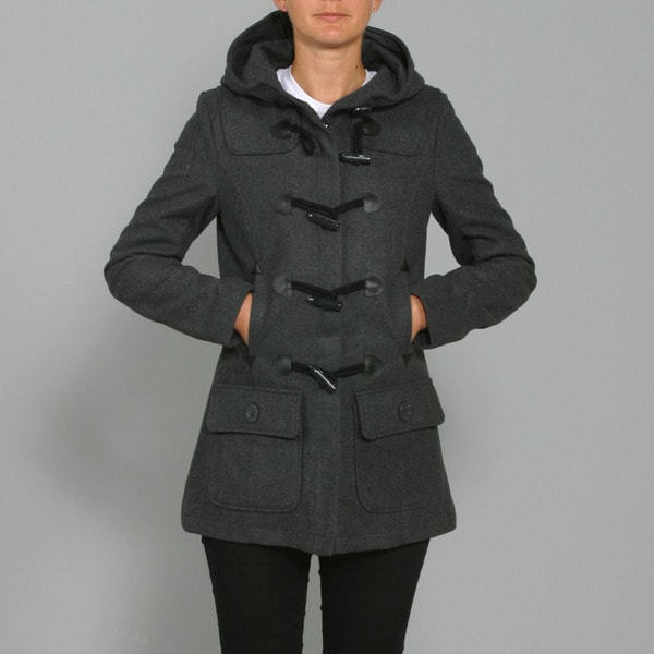 Red Fox Women's Charcoal Wool Toggle-front Coat