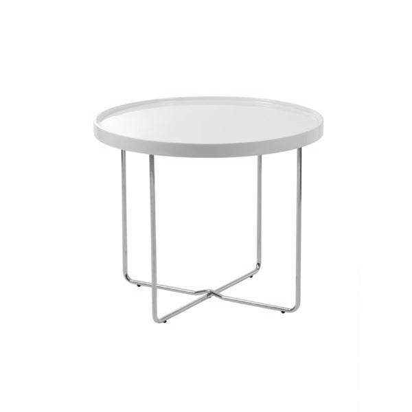 Ozzie White Side Table
