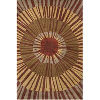 Allie Handmade Abstract Wool Area Rug - multi - 5' x 7'6