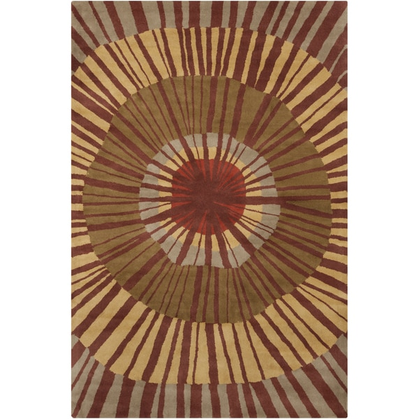 Allie Handmade Abstract Wool Area Rug (5' x 7'6)