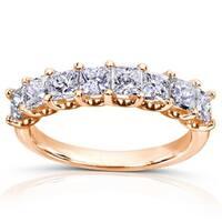 Annello by Kobelli 14k Gold 1 1/2ct TDW Princess Diamond Wedding Band