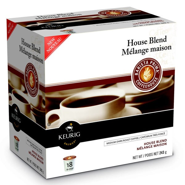 Barista Prima Coffeehouse House/Melange Maison Blend K-Cups for Keurig Brewers (Case of 96)
