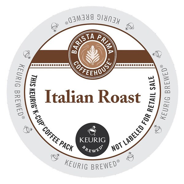 Barista Prima Italian Roast Coffee K-Cups for Keurig Brewers