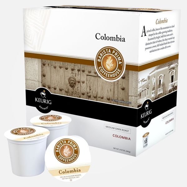 Barista Prima Colombia Coffee for Keurig Brewers (Case of 96)