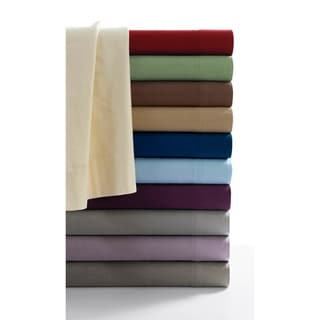 Tribeca Living Luxury Solid Flannel Deep Pocket Sheet Set