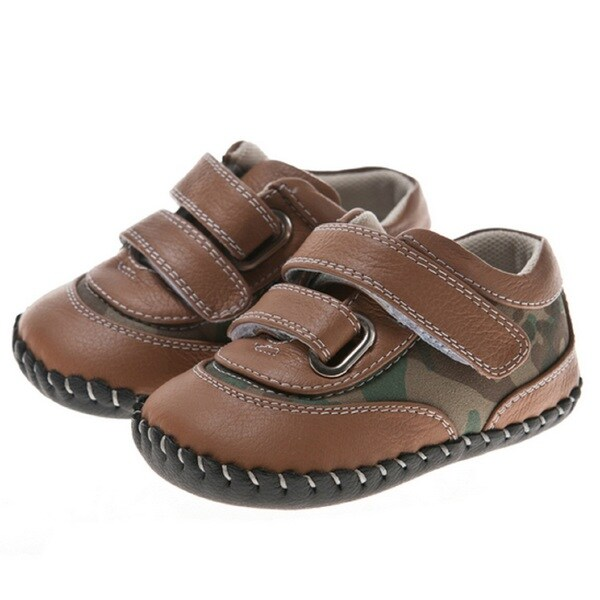 Little Blue Lamb Leather Camouflage Walking Shoes