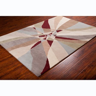 Contemporary Allie Handmade Abstract Wool Rug (5' x 7'6)
