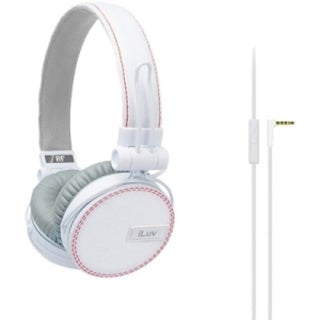 iLuv Deep Bass On-Ear Headphones With Canvas Fabric Exterior