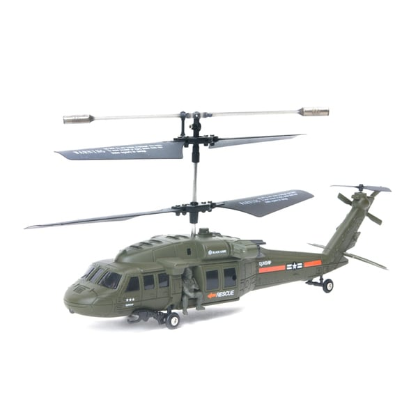 Madison Park 3.5 Channel Co-axial Remote Control Black Hawk Helicopter