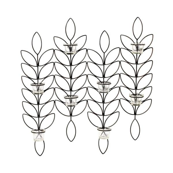 Elements 24-inch Metal Leaf 8-tealight Sconce