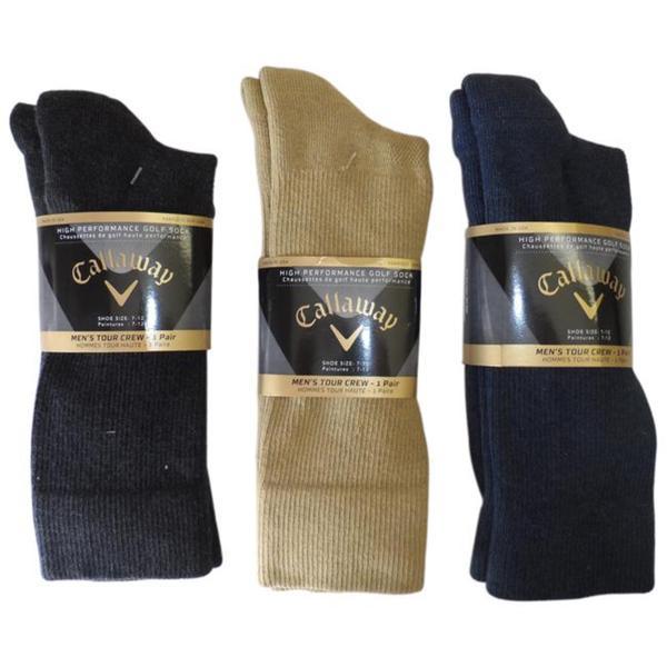 Callaway Men's Performance Crew Golf Socks (Pack of 6)
