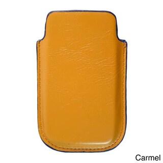Kroo iPhone 5 Napa Leather Carrying Case (Option: Carmel)