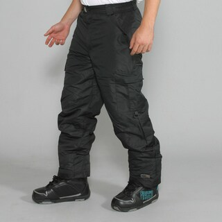 Pulse Men's Black Cargo Snowboard Pants