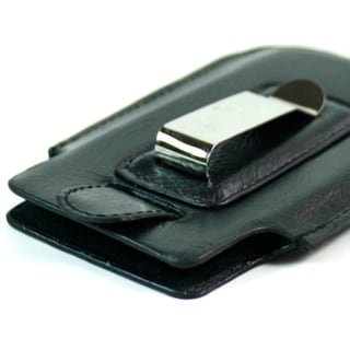 Kroo iPhone 5 Black Napa Leather Belt Clip
