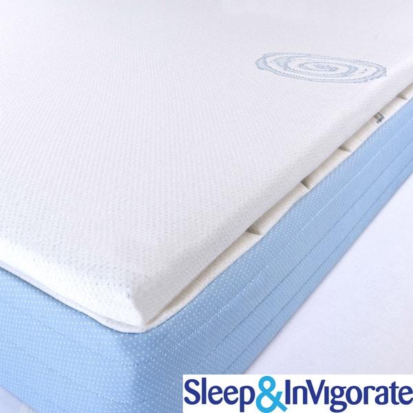 Sleep & Invigorate Latex and Foam 2-inch MattressTopper