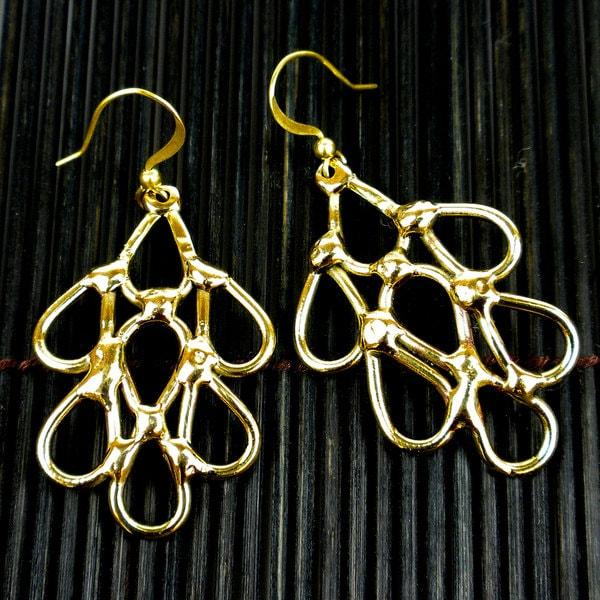 Handmade Brass Raindrops Earrings (South Africa)