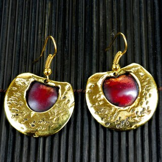 Handmade Copper and Brass Alter Ego Earrings (South Africa)
