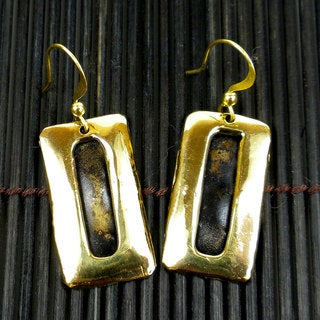 Multitone Brass Bar Earrings (South Africa)