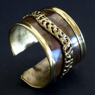 Handmade Brass Safari Cuff (South Africa)