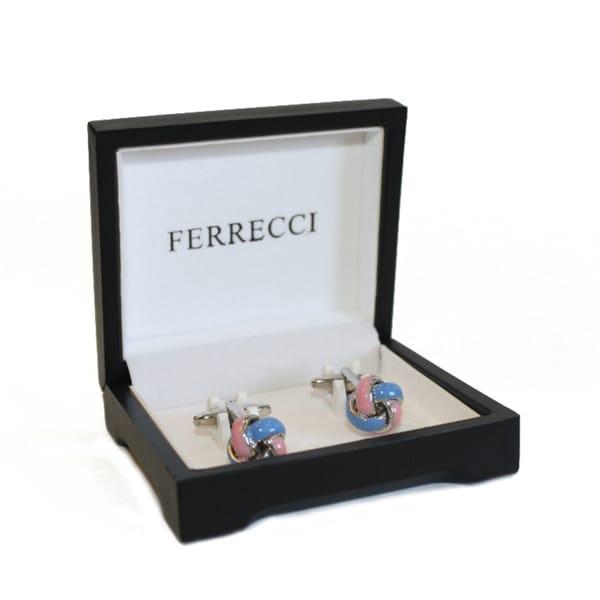 Ferrecci Knotted Enamel Cufflinks